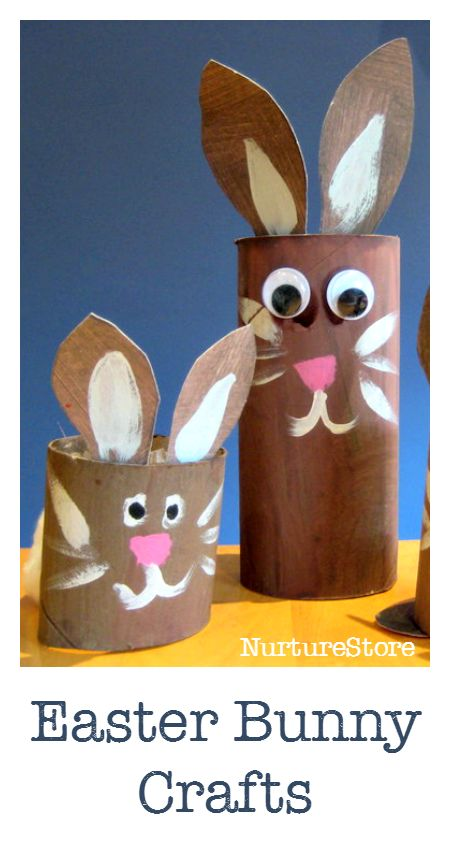 Easy Easter bunny craft :: toilet roll craft :: cute easter craft for kids