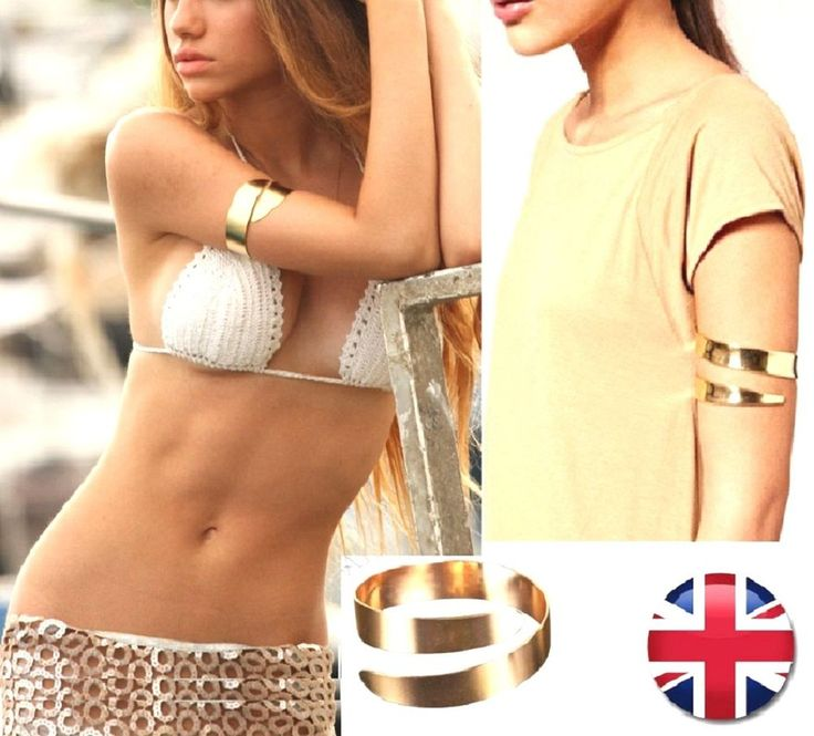 Greek Goddess Gold Punk Hippie Cleopatra Swirl Upper Arm Cuff Armband Bracelet