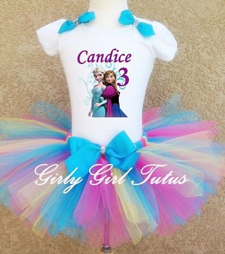Girls Frozen Birthday Party Outfit