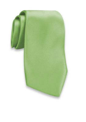 Haggar Light Green Washable Satin Extra Long Tie