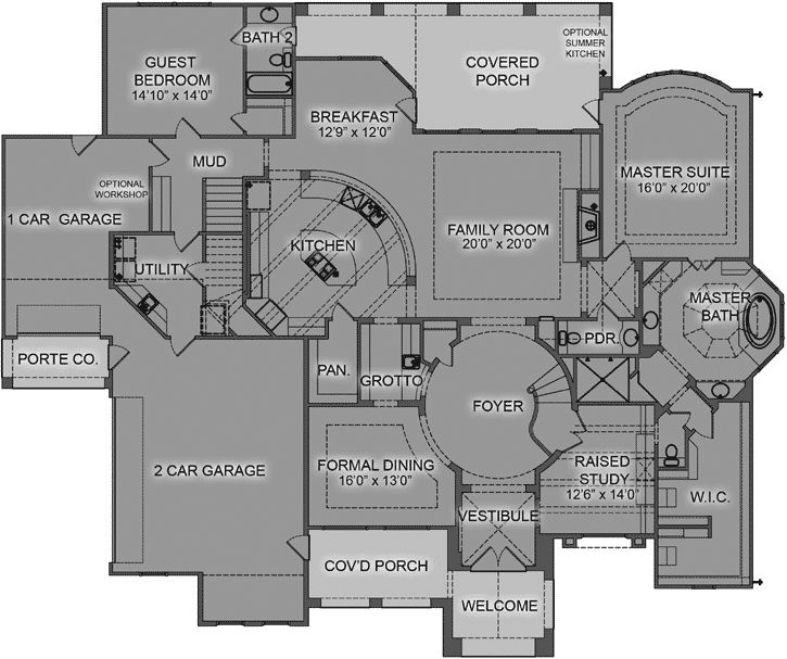 155 best luxury style house plans images on pinterest for Luxury two bedroom house plans