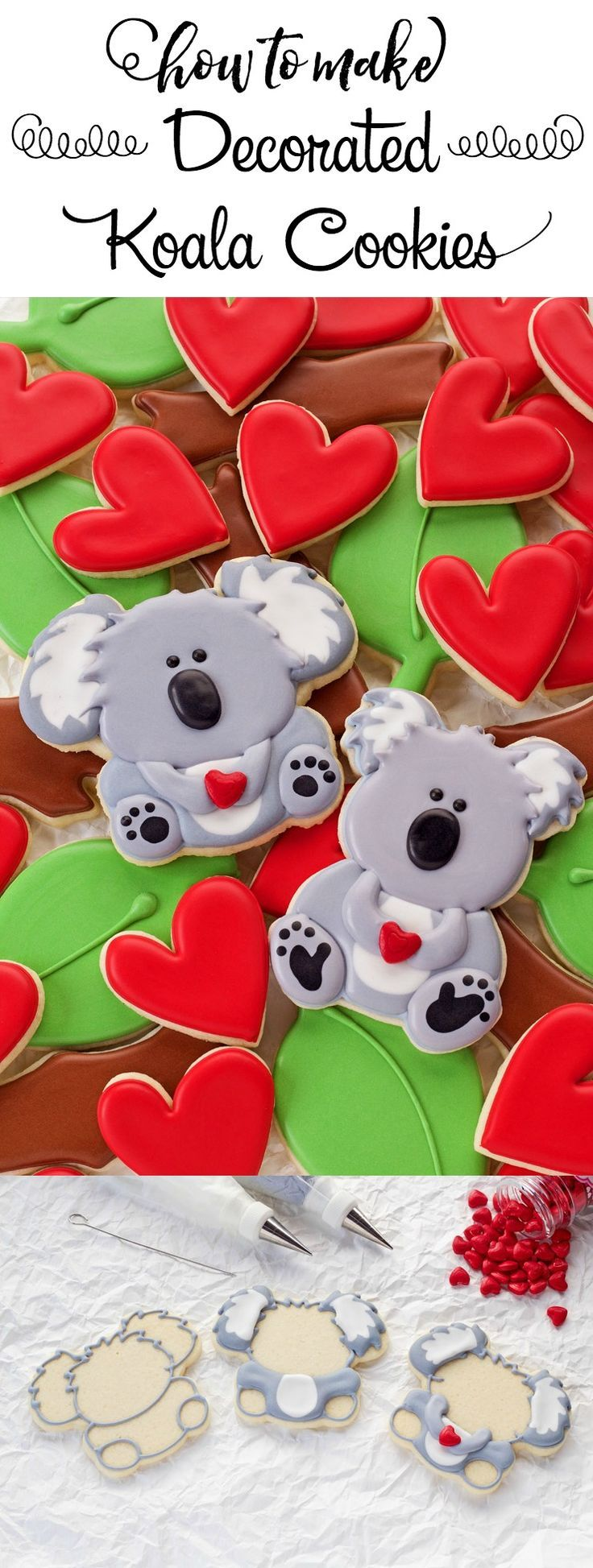 How to Make Simple Little Decorated Koala Cookies | The Bearfoot Baker
