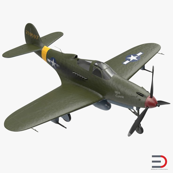 3D American WWII Fighter Aircraft Bell P-39 Aircobra model