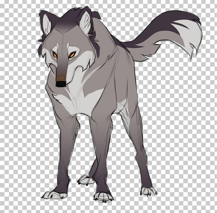Gray Wolf Drawing Cartoon Sketch Png Anime Art Carnivoran