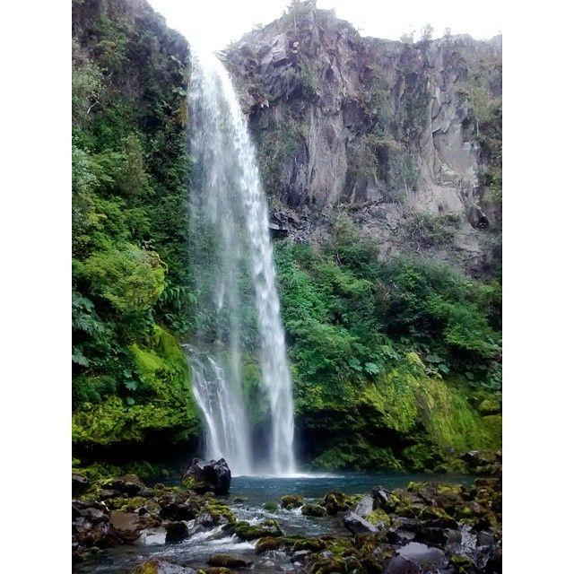 Salto Rio Blanco. Reserva Llanquihue. Chile