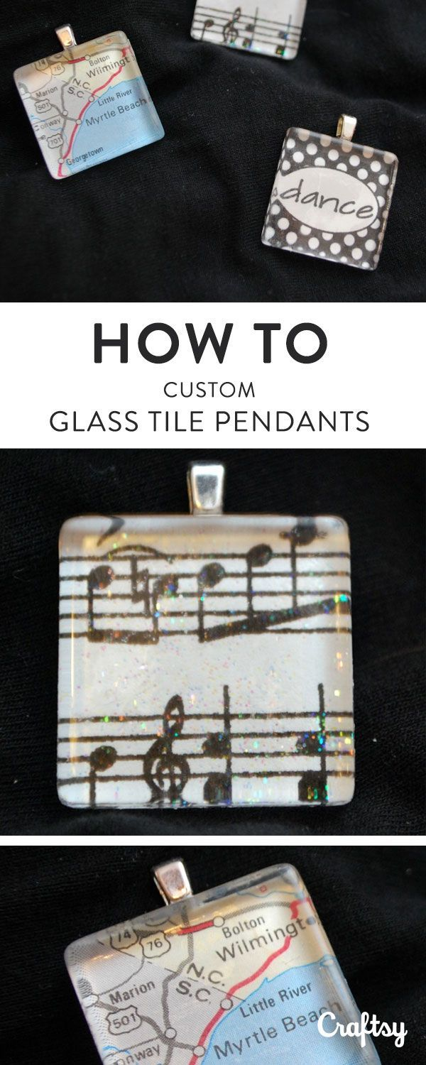 Want to create a fun, fast accessory? This easy tutorial reveals how to make glass tile pendants that showcase your favorite images and meaningful memories.