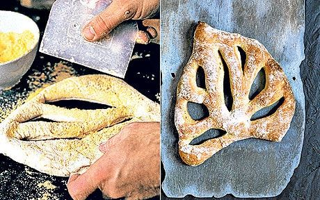 Richard Bertinet's best ever white bread recipe: fougasse.