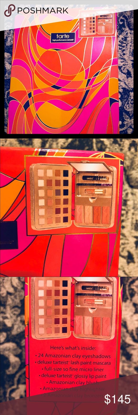🆕 Tarte Holiday Palette 2016 Eyeshadow Blush Sold Out, new, authentic, never opened, highly sought after Palette from Tarte 2016 Holiday  Everything you in one Palette! Eyeshadow Blush Liner highlight Gloss Bronzer tarte Makeup Eyeshadow