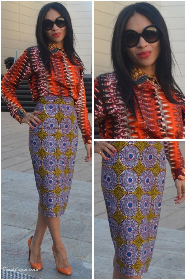 SPOTTED: CELIA L. SMITH IN BOXING KITTEN: Boxes Kittens, Africans Outfits, Combos Pencil, Mixed Prints, Outfits Ideas, Pencil Skirts, Afrocentr Wear, Africans Prints, Africans Fashion