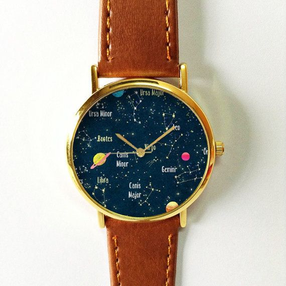Constellation Watch Planets Watch Galaxy Watch  Women by FreeForme