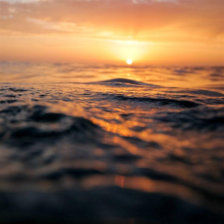 Sunset Sea Water Bokeh Orange Nature Retina IPad Air Wallpaper