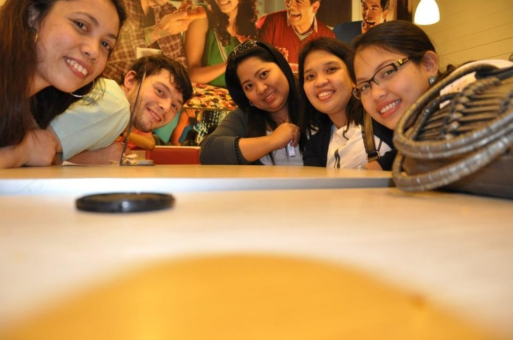 My fiancée and I and her cousins and Greenwich Barkada waiting for our lunch at MOA.