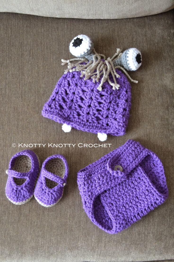 "Knotty Knotty Crochet: ""Boo"" inspired three piece set. FREE PATTERN"