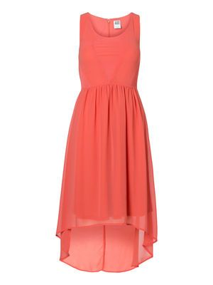 MESH S/L SHORT DRESS, Spiced Coral, main