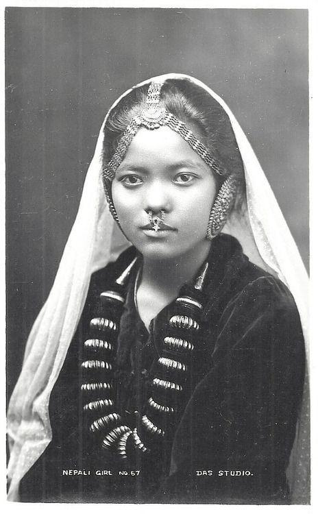 1920s Nepali girl  brown girl Magazine