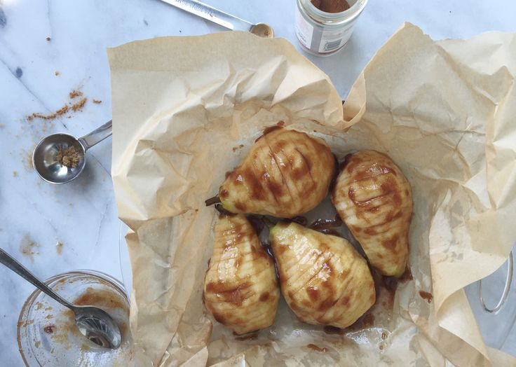 Hasselback Pears via Stemilt blog by Holley Grainger Nutrition