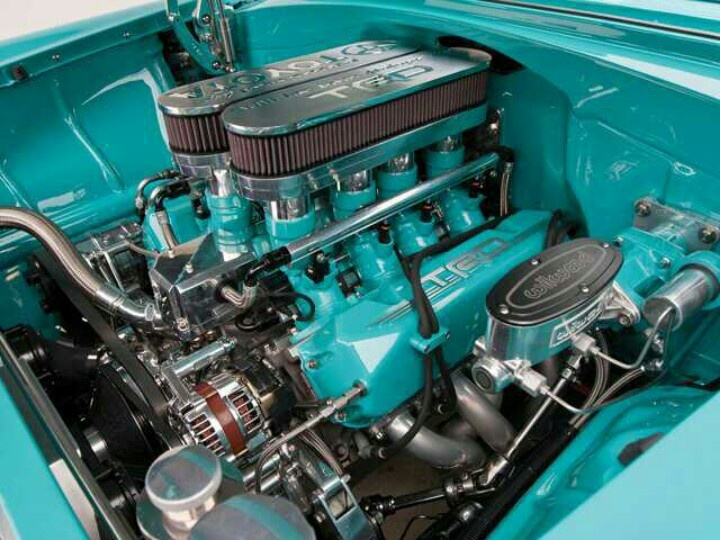 1956 Chevy with TRD Nascar engine.