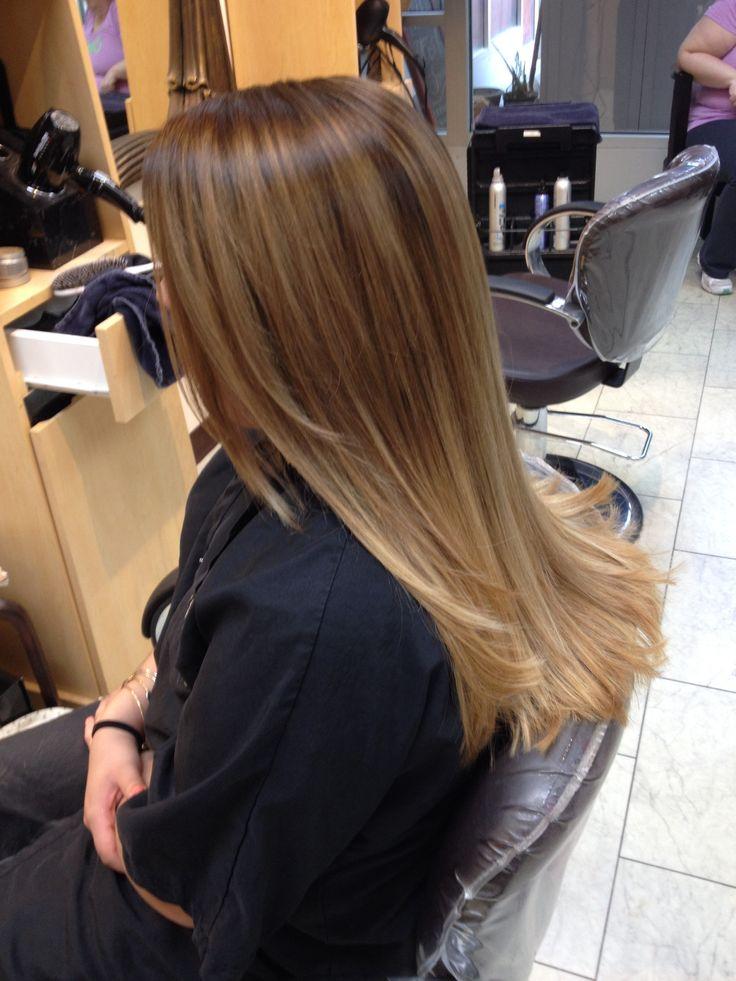 Color melt, ombré, Balayage, hair by Ashley Spadano, long hair, caramel hair