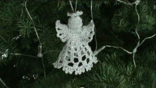 1DE 2 COMO TEJER ANGEL NAVIDEÑO GANCHILLO CROCHET - YouTube
