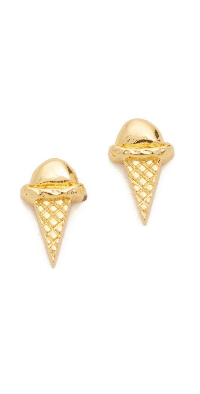Gorjana Ice Cream Cone Stud Earrings  Shopbop