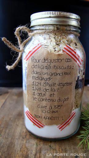 La porte rouge: Idée cadeau : Biscuits en pot