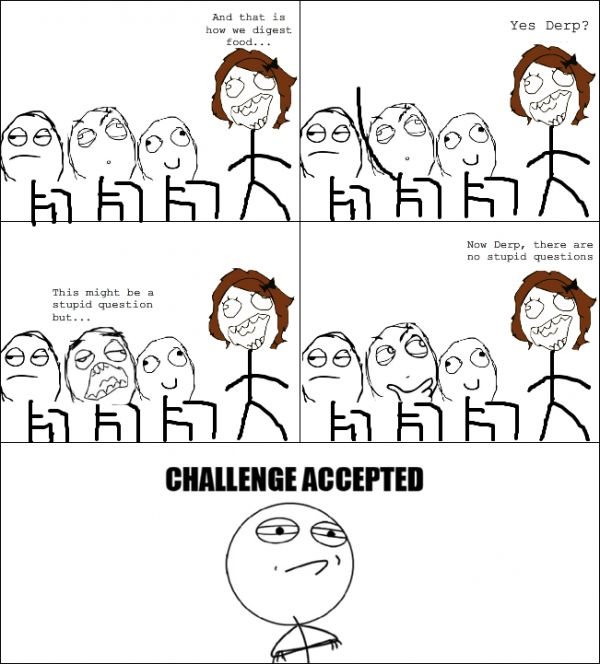 Challenge Accepted meme funny - http://whyareyoustupid.com ...