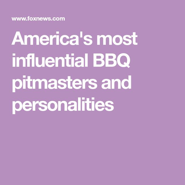 America's most influential BBQ pitmasters and personalities