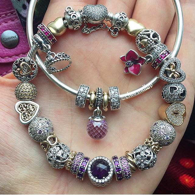 Took these with me to the meeting Need more purple or lilac So added the spring collection radiant droplets on my shopping list#pandora #pandoraaddict #pandoralove #pandorabracelet #pandorabracelets #pandorajewelry #pandoramoments #pandoragold #pandoraflow #pandoratime #pandoracollection #myjewelry #mypassion #myaddiction #jewelry #jewelrylover #silver #gold #purple