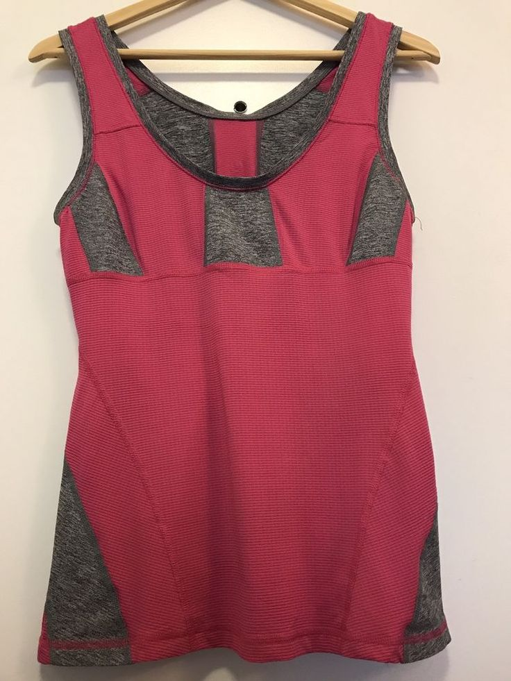 Lululemon Women's SZ 6 or 8 ? Pink Gray Tank Top Silverescent Sleeveless
