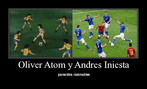 Oliver Atom y Andres Iniesta.