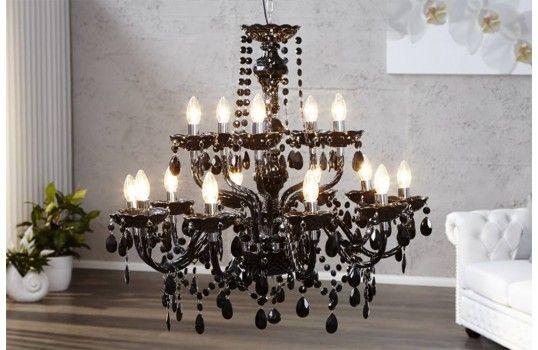 Lustre baroque Aloise noir