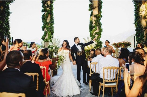 Oh. My. Word. Could this Lake Como wedding be any more beautiful? The bell jars, the stunning silver and white details, and those florals! Although what else you expect from the Lake Como Wedding Planner (the brains behind John Legend and Chrissy Teigen's beautiful big day)?! Sarah's incredible Enzoani gown and pretty mantilla veil is the icing on the cake. Stunning! *See more real weddings and read ourtop tips for getting married abroad*