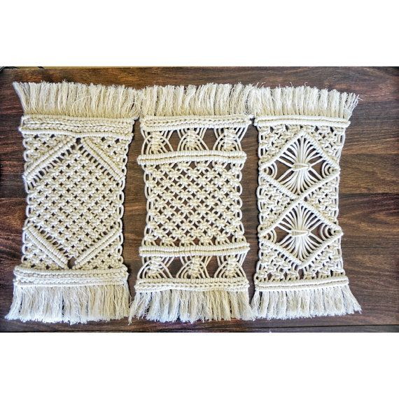 Boho Home Decor. Boho Home Decor. Contemporary macrame table setting for decorating your home, garden, yoga studio, wedding or any other special event. The design is unique. Every knot is made with love and attention to detail.   MATERIALS Cotton rope #bohemian