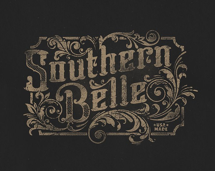 Southernbelle detail typography calligraphy and