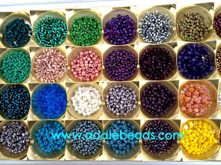 Empty Ferrero Rocher boxes are great for storing those seeds that you are using all the time.  Each section holds a small amount of seeds and the tray wont take up too much space on your table. #beadtingtips #addiebeads