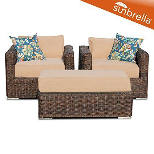 tk classics 3 piece outdoor wicker patio furniture set