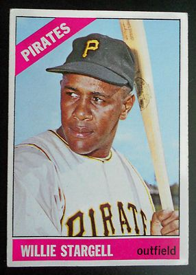Vintage baseball card Willie Stargell 1966 Pittsburgh Pirates