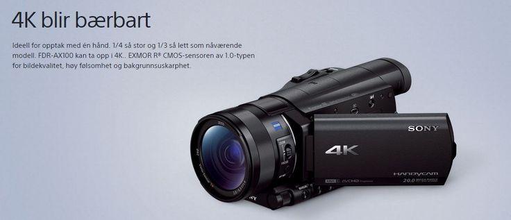 HANDYCAM® AX100 4K-videokamera fra Sony. Om denne nettbutikken: http://nettbutikknytt.no/sony/