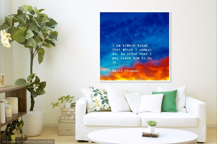 Modern Abstract Quote Print High Quality Archival Print Giclee  blue and  red sky signed and with Certificate of Autenticity by UnDoArtStudio on Etsy