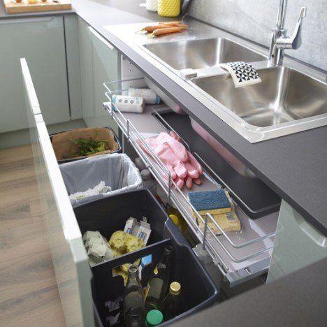 Unter dem Spülbecken 4 Behälter für Möbel l.10…