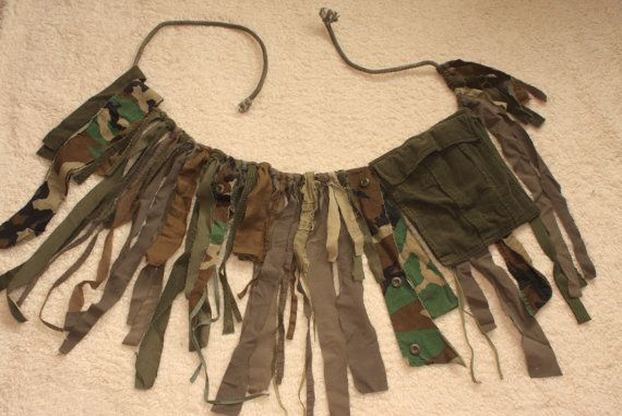 Mad Max CAMO tutu w/ Cargo pocket brown & green Post