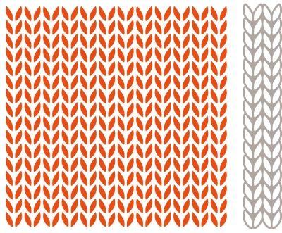 Df3418 Design Folder Extra - Knitting - Marianne Design embossing folders - Mallen - Hobbynu.nl