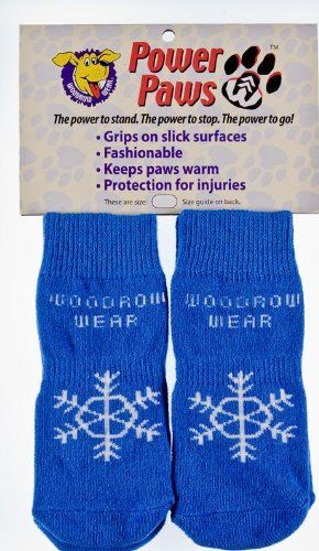 Power Paws, traction socks for dogs, Blue with white Snowflake, S - http://www.thepuppy.org/power-paws-traction-socks-for-dogs-blue-with-white-snowflake-s/
