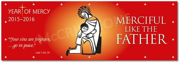 Your sins are forgiven - Year of Mercy PVC Banner PVLYM2