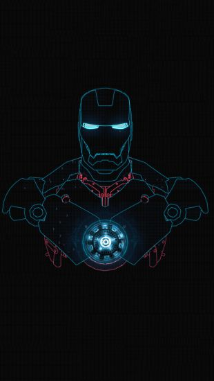 #Iron Man #Glow - The iPhone Wallpapers