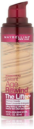 Maybelline New York Instant Age Rewind The Lifter Makeup Natural Beige 1 Fluid Ounce 3 pack >>> You can get additional details at the image link.
