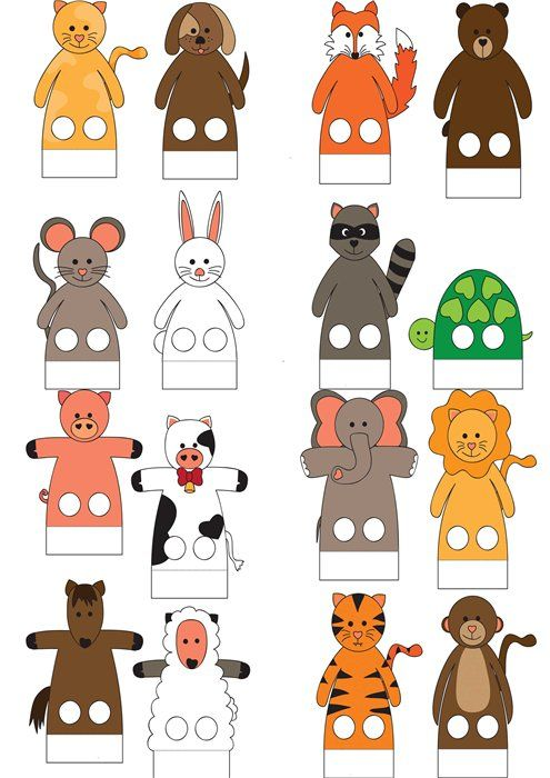 Пальчиковый театр. - Бумажные модели - Творческая мастерская - Скачать бесплатно - Детский портал Leon4ik.Все для Детского сада.
