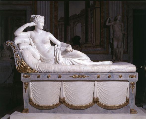 Paolina Borghese Bonaparte come Venere Vincitrice, 1804-1808, marmo, Galleria Borghese, Roma