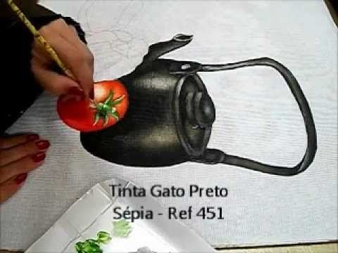 Pintura em Tecido - como pintar Trigo e Farinha - how to paint wheat and flour - YouTube