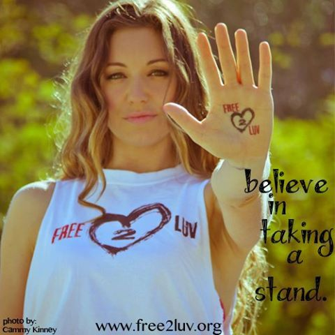 Try taking a stand for what you want and what you believe in. It will be worth the effort. Thank you, Bianca Kajlich for taking a stand with us! ❤ #Free2Luv